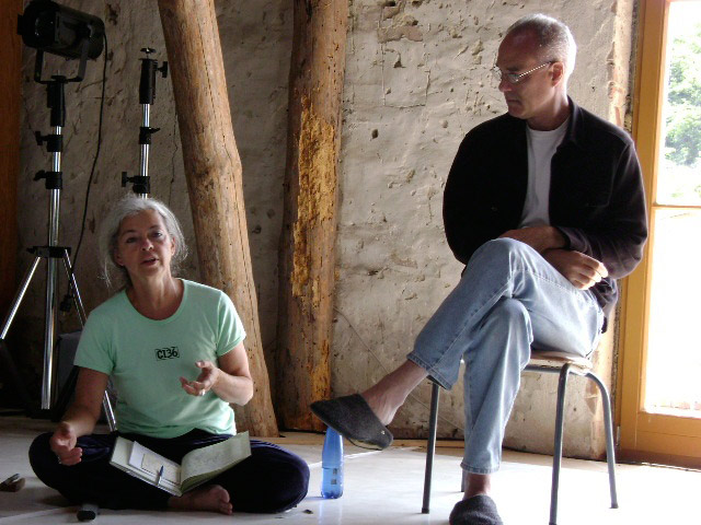 Nancy and Mike teaching at Ponderosa, Stolzenhagen, Germany, 2010. photographer unknown