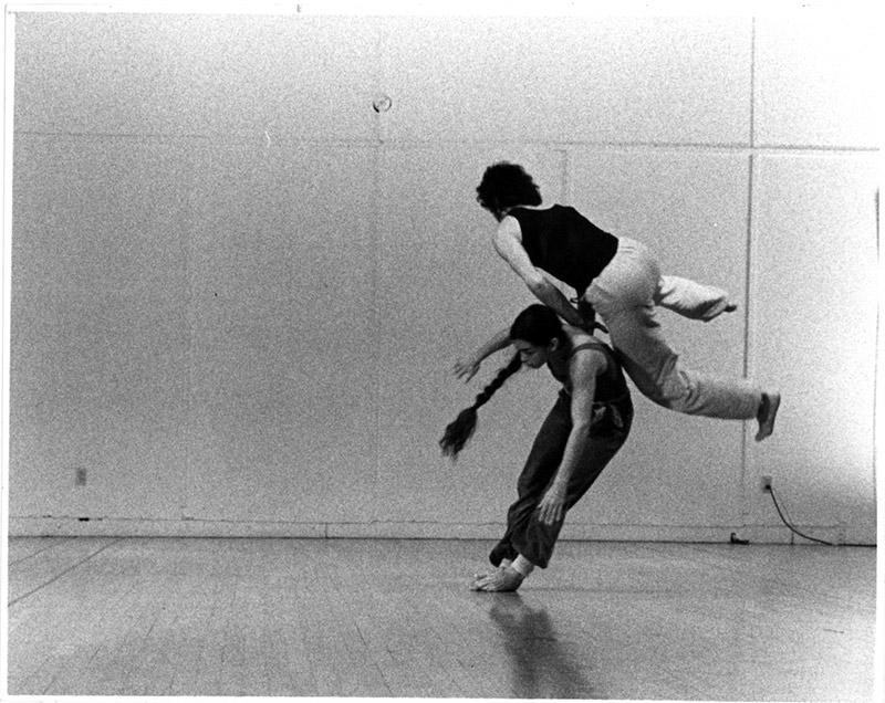 Nancy Stark Smith and Alan Ptashek, Vancouver, BC, 1979. photo © Erich Franz
